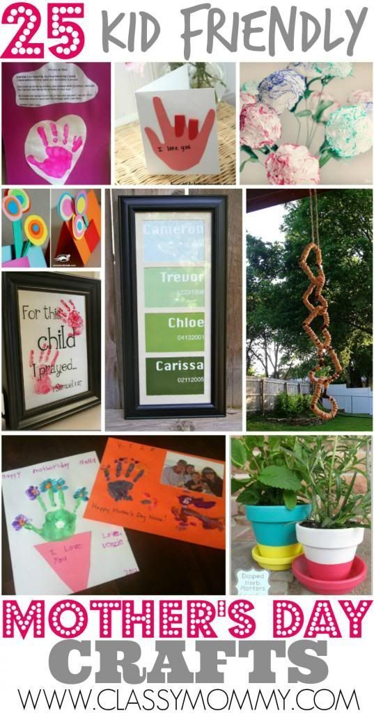 Best 25 Kid Friendly Easy Mother's Day Crafts
