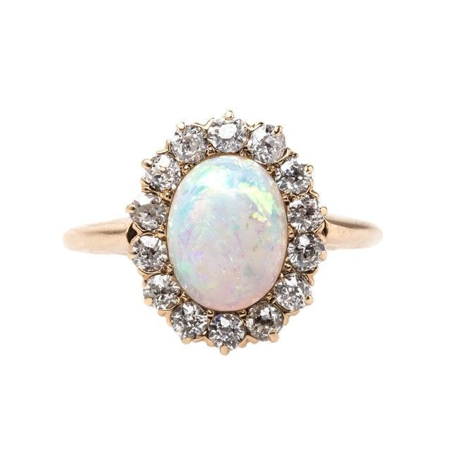 Lindenwald is a sweet opal and diamond vintage ring from Trumpet & Horn! // $2,650