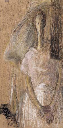 Ilka Gedő, 'Self Portrait in Pregnancy', 1947