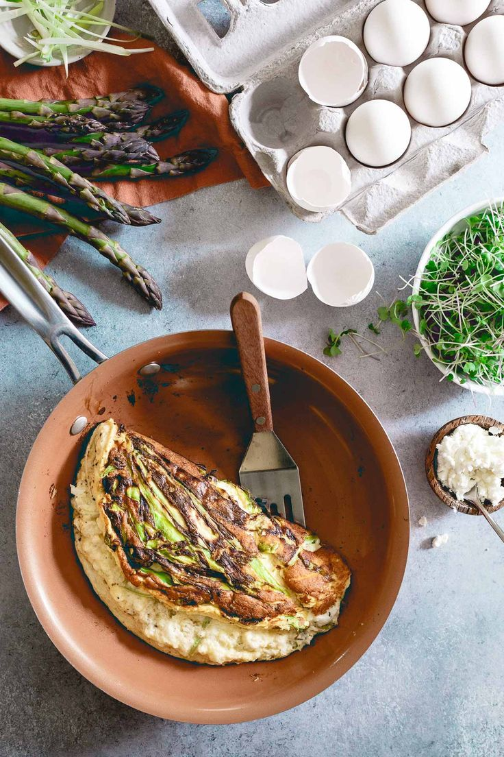 This omelette souffle is filled with spring ingredients and the perfect light, fluffy and airy texture for something a little more special than your average breakfast.