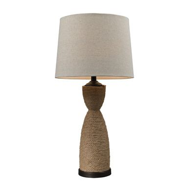 Dimond Lighting Wrapped Rope Table Lamp in Dark Brown And Sandstone