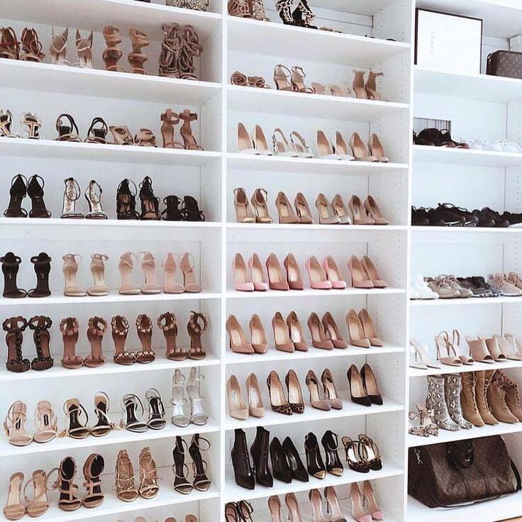 Shoe Closet Goals Walk In Closet Walk In Closet Design Shoe