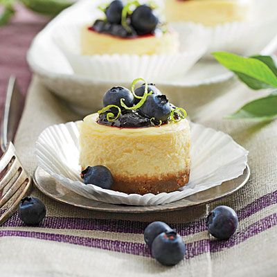 Petite Blueberry Cheesecakes - To-Die-For Cheesecake Recipes - Southern Living