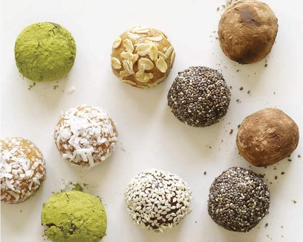 """These protein """"truffles"""" are so ridiculously easy that I feel somewhat silly adding them to thiscollection. Then again, my super-simple, silly recipes are often my most popular. They arecertainly favorites in my repertoire, in large part because of their fast factor, but also because oftheir portability and candy-like appeal. Plus, they are endlessly customizable by varying thespices, extracts, and other add-ins, or by giving them a chic coating of chia seeds, cocoa powder,or c..."""