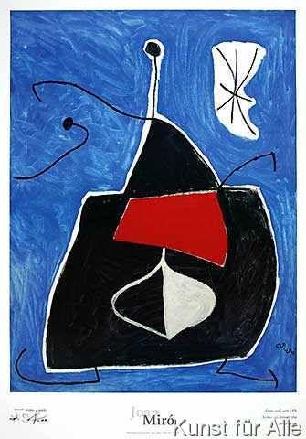 Joan Miró - Dona, ocell, estel, 1978