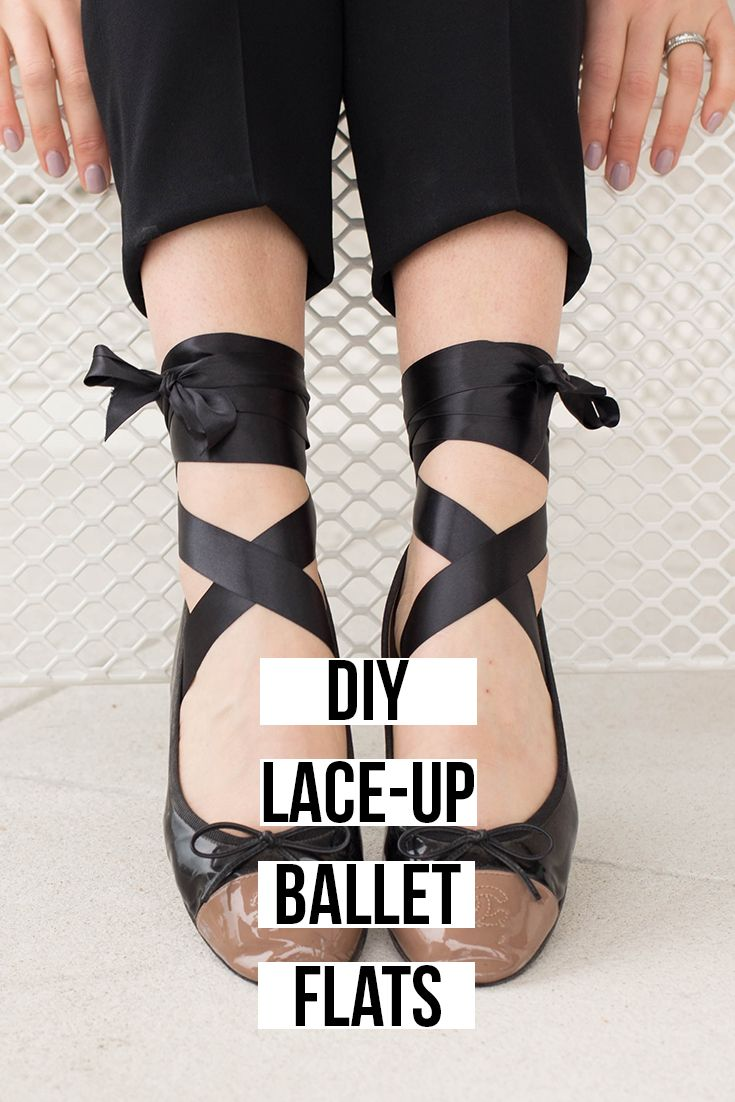 DIY: Lace-Up Ballet Flats - Simple, versatile and no glue required. Inspired by the miu miu flats