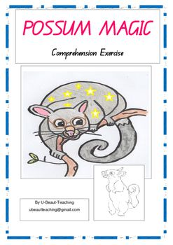 Comprehension Exercise that has appealing picture choice answers for the storybook  Possum Magic by Mem Fox and Julie Vivas. Answers included.