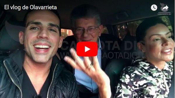 Luis Olavarrieta entrevistó a Ramos Allup en un paseo por Caracas