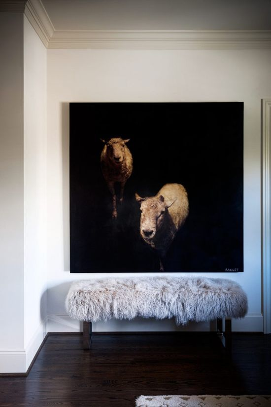 Indoors / Outdoors  weird sheep painting is so cool