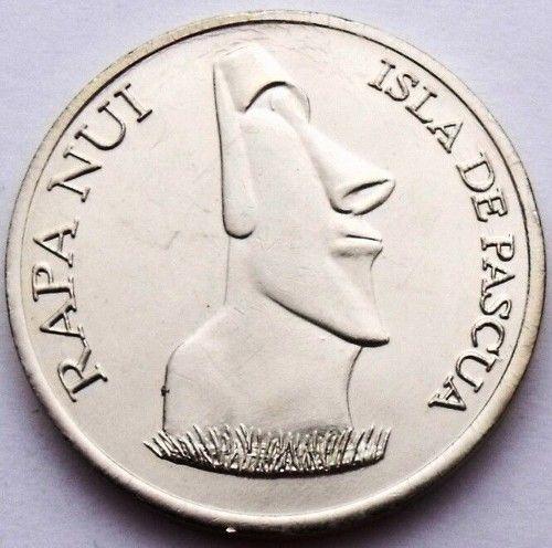EASTER ISLAND 1000 PESOS 2008 MOAI AND WALL UNC PASCUA RAPA NUI