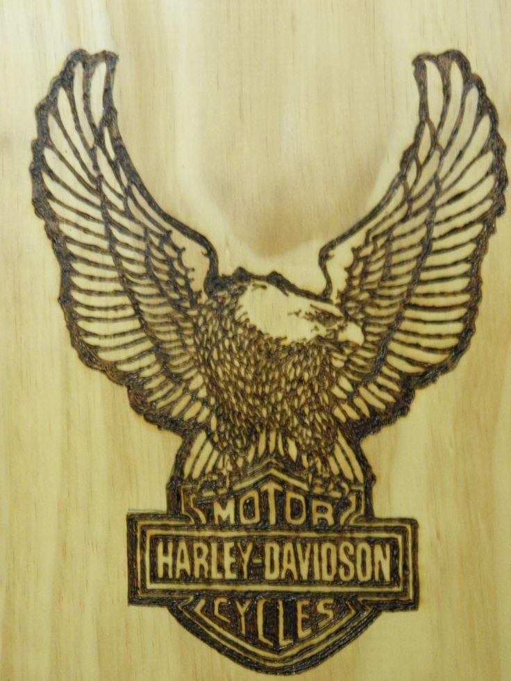 Harley Davidson Logo  Jenni Amey - Jameys Pyrographic Designs