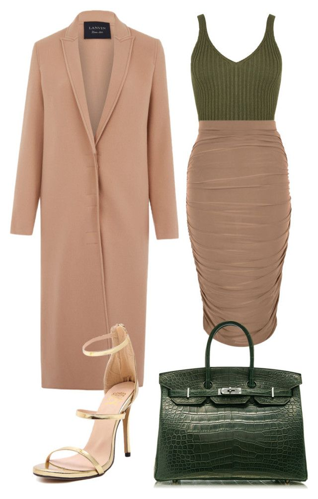 """""""Untitled #10"""" by chrisandageles on Polyvore featuring Lanvin, WearAll and Hermès"""