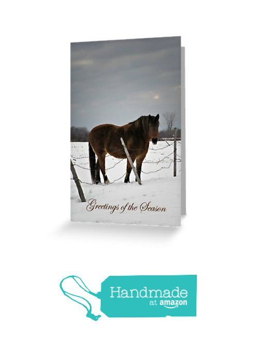 16 best amazon handmade note greeting and holiday cards images on horse in winter holiday greeting card 4x6 or 5x75 greetings of m4hsunfo