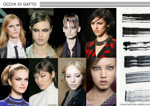 occhi di gatto make up tendenze trucco ss 2014http://thefashionsuburbs.blogspot.it/2014/01/trend-watch-beauty-trend-2014.html chiaragirivetto2014 © alls rights reserved