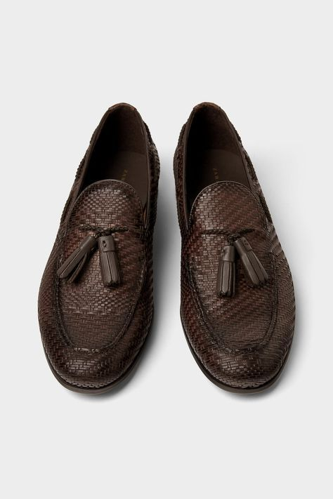 e0b35e34ba5 Image 1 of BRAIDED LOAFERS WITH TASSELS from Zara