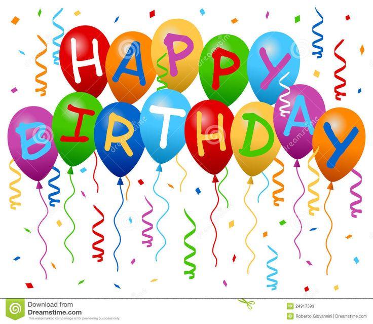 Birthday Balloons | feliz aniversario colorido balloons a bandeira com flâmulas e ...