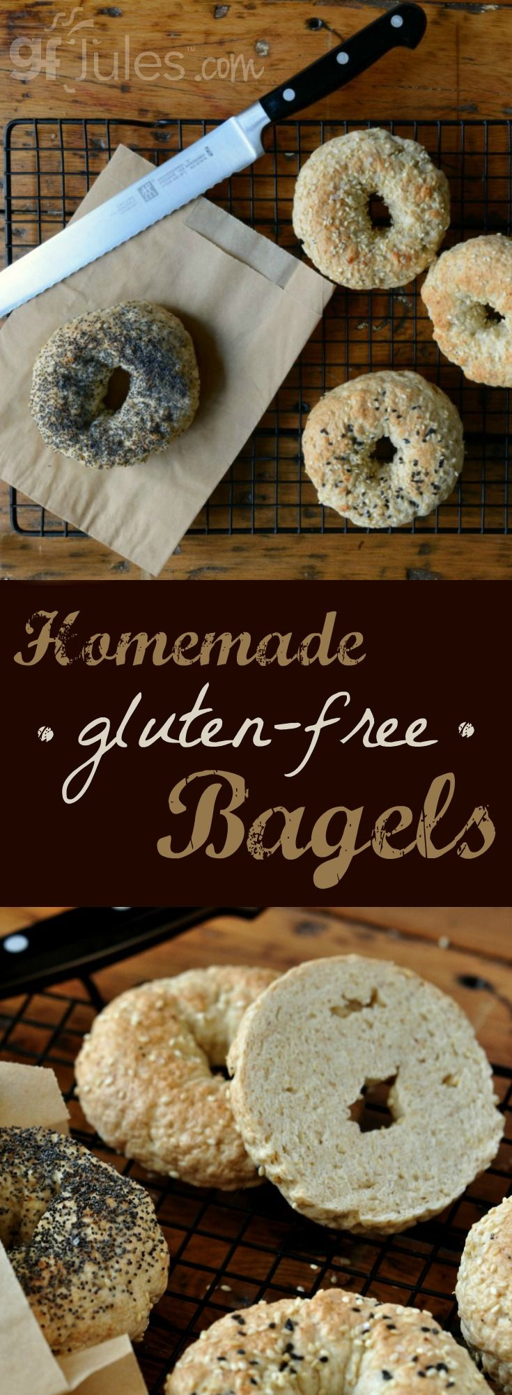 Homemade Gluten Free Bagels can be soft and bagel-y, just like you remember, with the right recipe + ingredients!  | gfJules.com