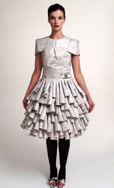 Disfraces hechos con material reciclado