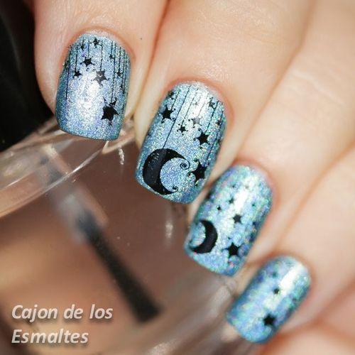 Star and moon nails