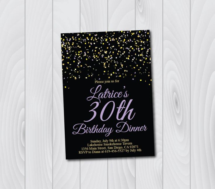 80 best birthday images on pinterest etsy shop birthday any age any color black and gold and purple birthday invitation printable birthday stopboris Gallery