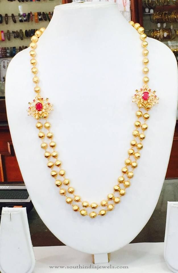 Two Layer Side Mogappu Necklace From Amithi Necklace