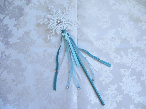 Elsa snowflake wand elsa birthday party by boutiquetresors for Birthday wand