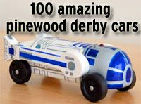 100 amazing pinewood derby cars. I'll be glad for this later