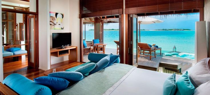 Outstanding hotel in Maldives / maldives, hotel in maldives, honeymoon / #honeymoon #ocean #modern / Also: http://www.designcontract.eu/hospitality/choose-destination-best-honeymoon-hotels-maldives/