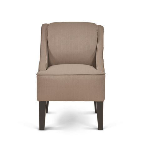 Best Mainstays Slight Arm Swoop Chair With Wood Legs Dolphin 400 x 300