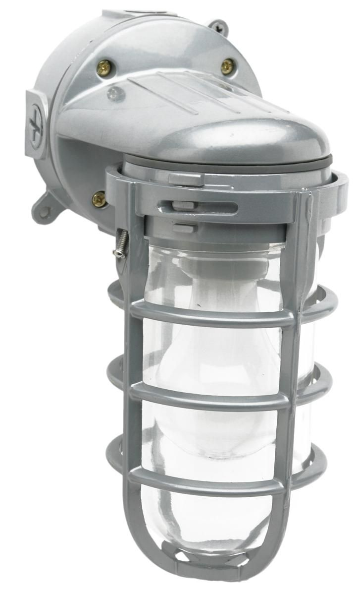 Industrial outdoor lamp - Designers Edge L1707 100 Watt Outdoor Weatherproof Industrial Light Silver At Plumbersurplus Com