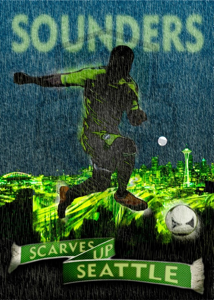 Seattle Sounders: Showcases the Sounders cor values of excellence, passion, courage and community