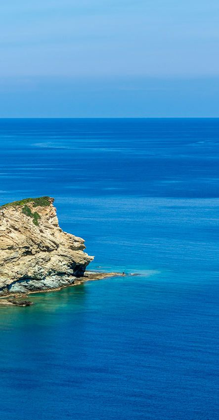Rising from the sea -View from Agia Pelagia in Crete