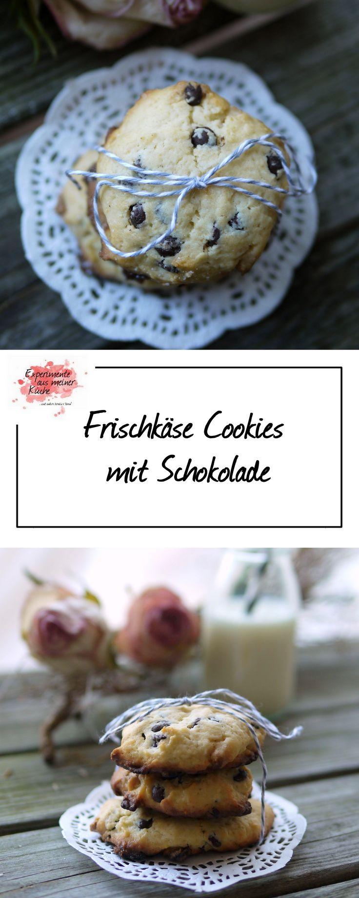 Frischkäse Cookies mit Schokolade