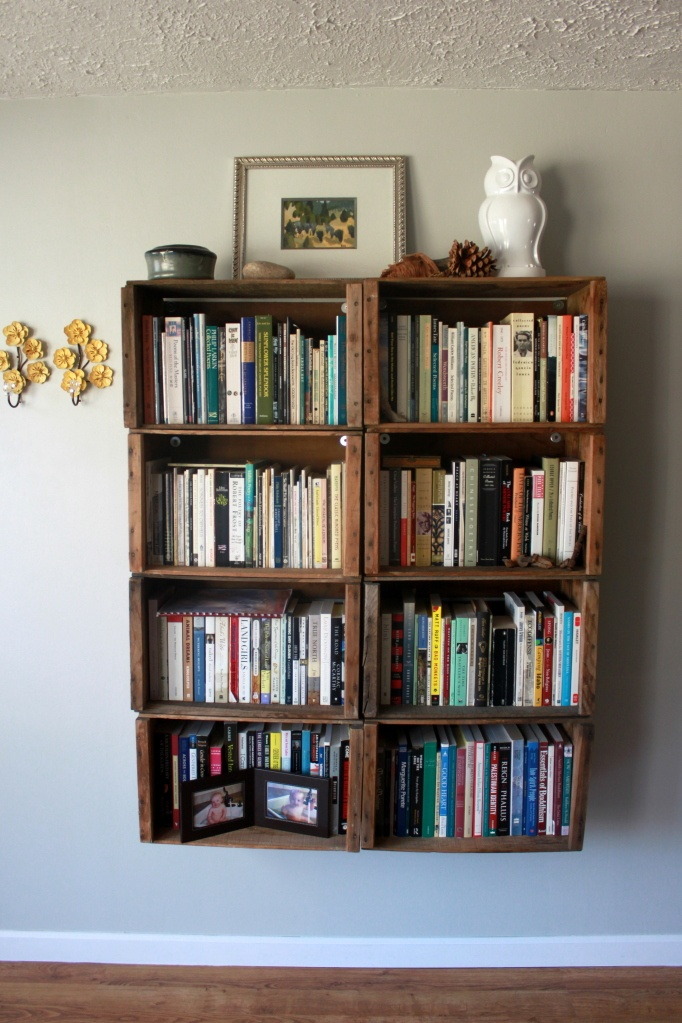 love the hanging bookshelf