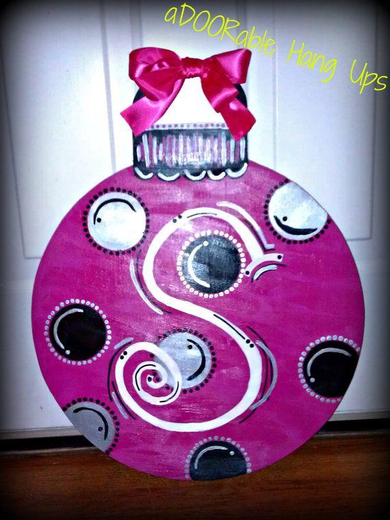 397 best Door hangers images on Pinterest  Christmas ornaments