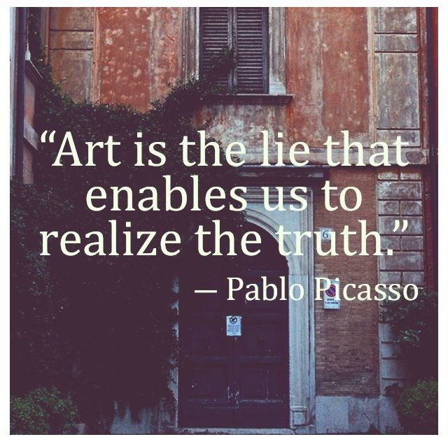 Favorite quote about art! From a favorite artist....