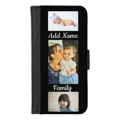 Custom Iphone 8 Family Photo case. iPhone 8/7 Wallet Case - diy cyo personalize design idea new special custom