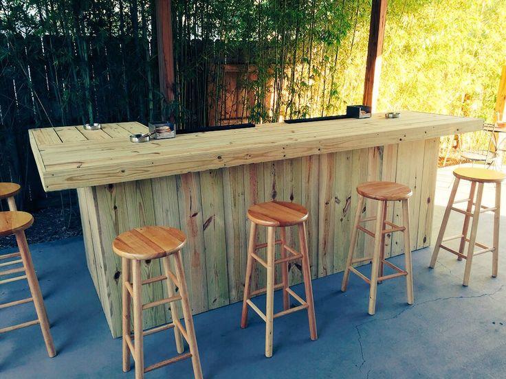 Elegant Outdoor L Shaped Bar