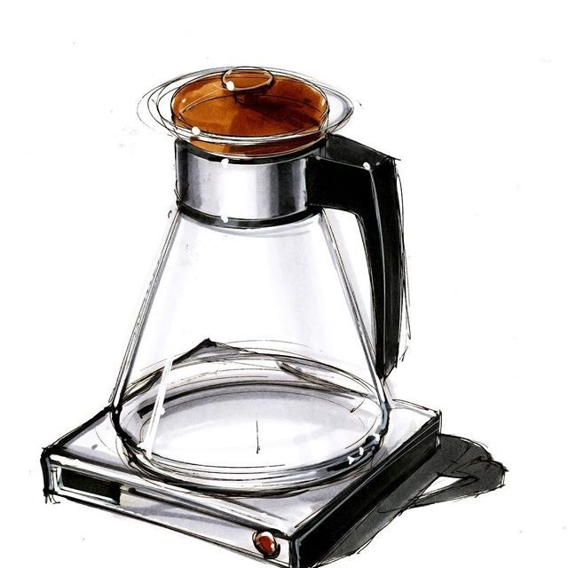 #sketch #coffeemaker in #marker #sketching #glass and #metal