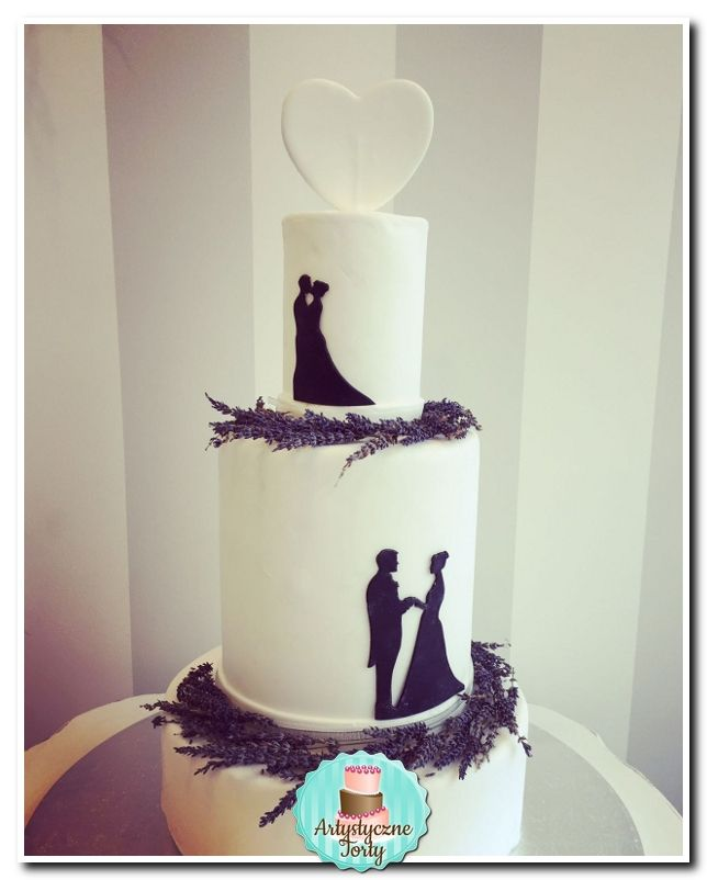 --Tort-weselny-czarno-biały.jpg (644×802)