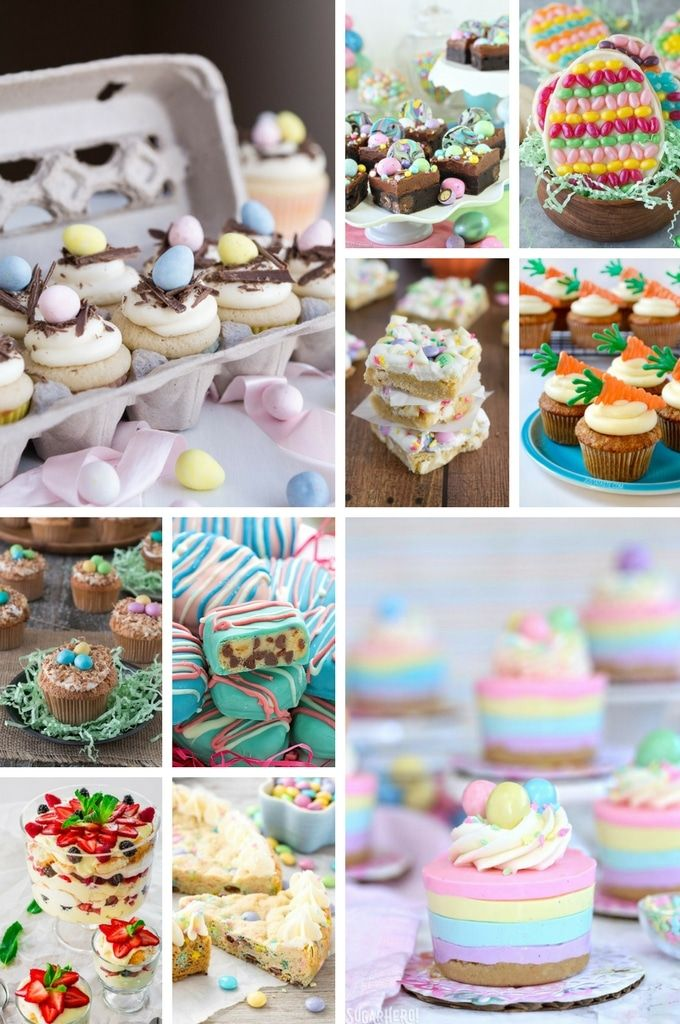 Easter dessert recipes including cupcakes, cheesecakes, brownies and more.