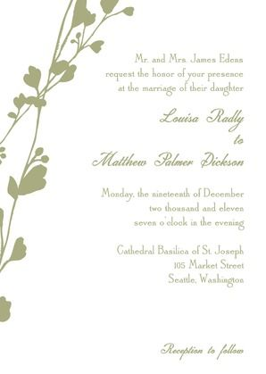 Vine - Signature White Wedding Invitations - Petite Alma - Pumpkin - Orange : Front