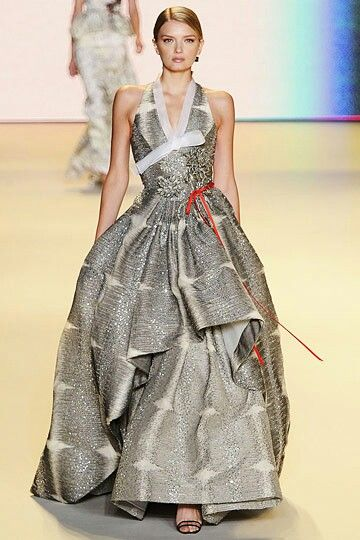 Hanbok inspired gown by Carolina Herrera