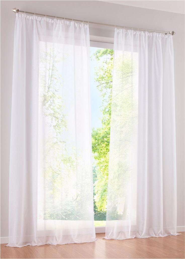 vorhang wei transparent. Black Bedroom Furniture Sets. Home Design Ideas