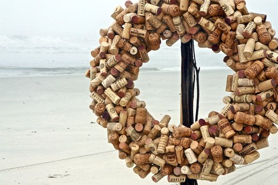 Recycled Wine Cork Wreath....wow I made this same wreath a few years ago for my in-laws...I had no idea it was worth $350!!