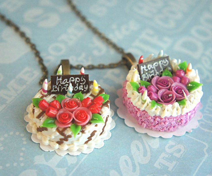 birthday cake necklace