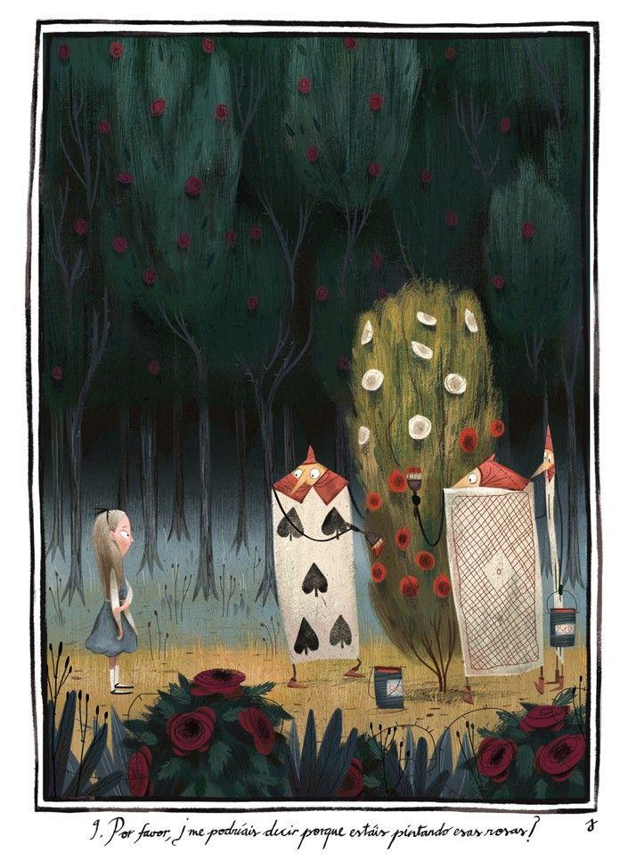{Wonderland} Alice in Wonderland by Júlia Sardà #art #aliceinwonderland