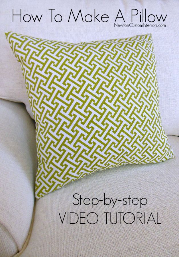 How To Make A Pillow. Learn how to make a throw pillow with this detailed step-by-step tutorial which includes video instructions.