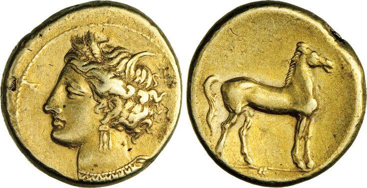 NumisBids: Numismatica Varesi s.a.s. Auction 65, Lot 22 : CARTAGINE - ZEUGITANA - (320-310 a.C. circa) Statere. D/ Testa di...