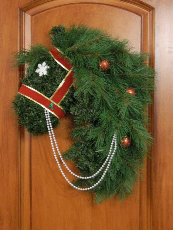 Horse Head Wreath Horsehead Wreath Equine by AmysCustomCreation